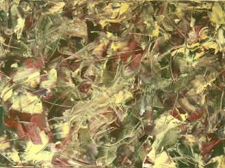 ABUNDANCE Original acrylic 18 x 24 inches by Doris Anderson (c) copyrighted 2014 all rights reserved