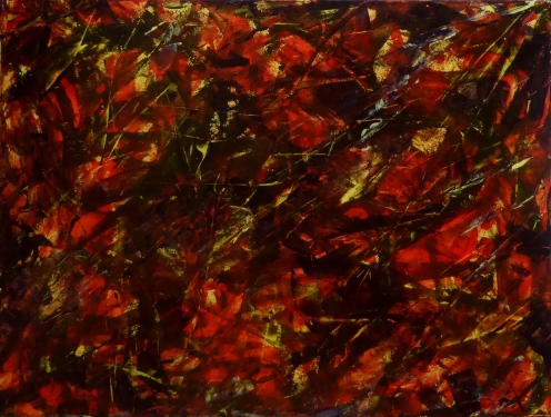 AUTUMN'S SONG Original Acrylic 24 x 18 inches by Doris Anderson (c) copyright 2014 All rights reserved