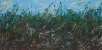 ESSENCE OF ESCAPE Original Acrylic 36 x 18 inches by Doris Anderson (c) copyright 2015 All rights reserved