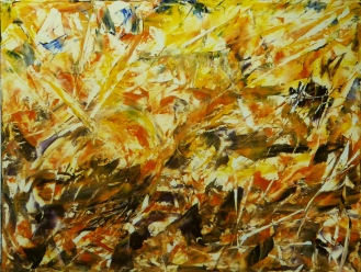 MANGO ECSTASY Original Acrylic 24 x 18 inches by Doris anderson (c) copyright 2014 All rights reserved