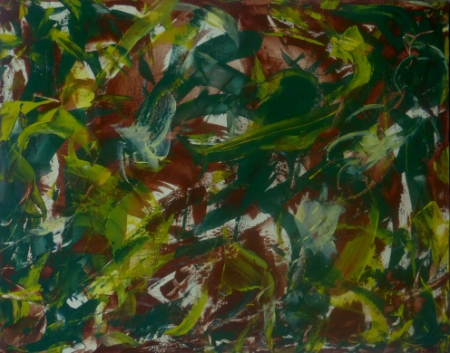 SPIRIT OF JAGUAR'S CHILDREN Original Acrylic 30 x 24 iches by Doris Anderson (c) copyright All rights reserved