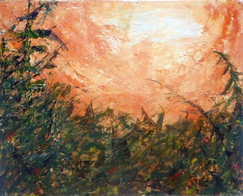 SUMMER HEAT 1 Original Acrylic 30 x 24 inches by Doris Anderson (c) copyright All rights reserved
