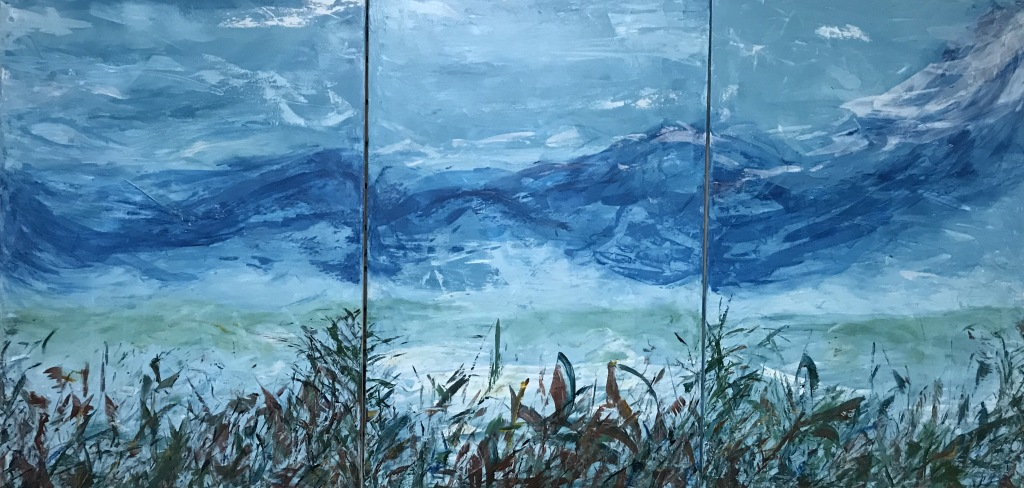 This image has an empty alt attribute; its file name is natures-anthem-original-acrylic-triptych-3-24x36-inches-by-doris-anderson-c2019-copyrighted-all-rights-reserved.jpg